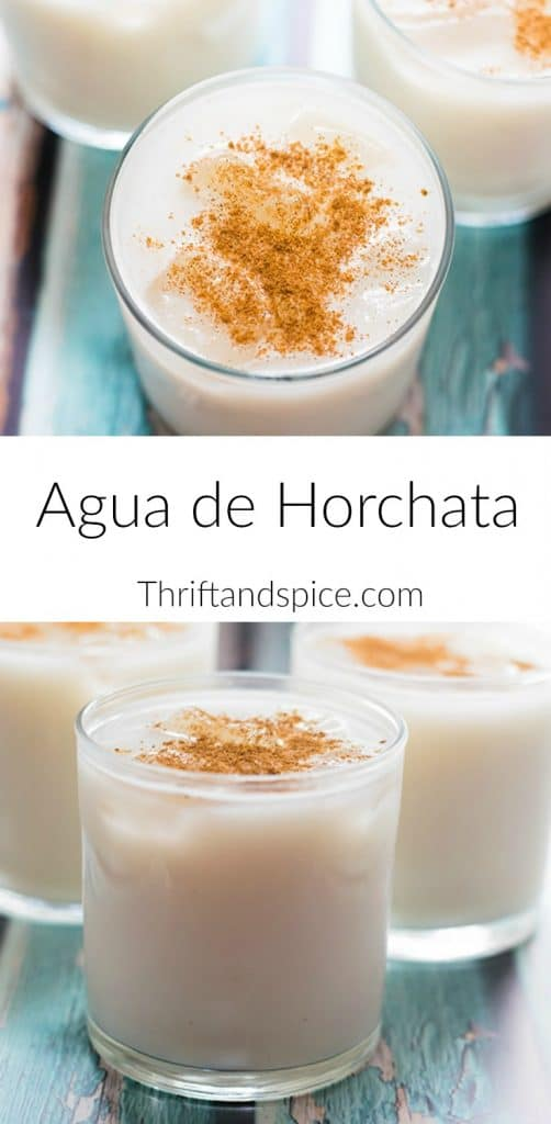 agua de horchata is a type of agua fresca. Agua de horchata is popular in Mexico and is the perfect beverage to serve this Cinco de Mayo!