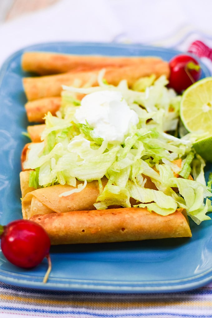 Chicken Flautas Thrift And Spice