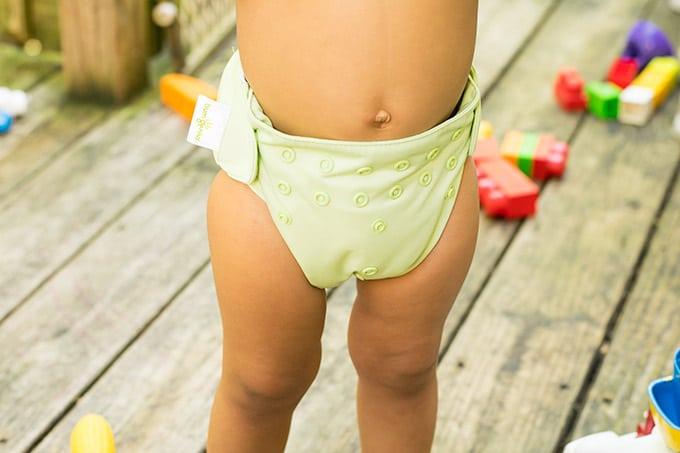 light green bumgenius diaper