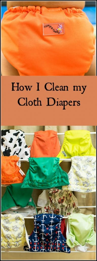 how I clean my cloth diapers