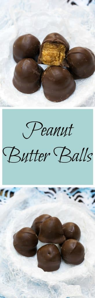 This peanut butter balls recipe is perfect for the holidays!