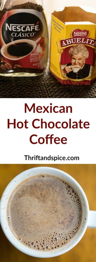 mexican hot chocolate coffee is a delicious combination of your two favorite things, chocolate and coffee! #hotchocolate #hotchocolatecoffee #beverages #slowcookerrecipes