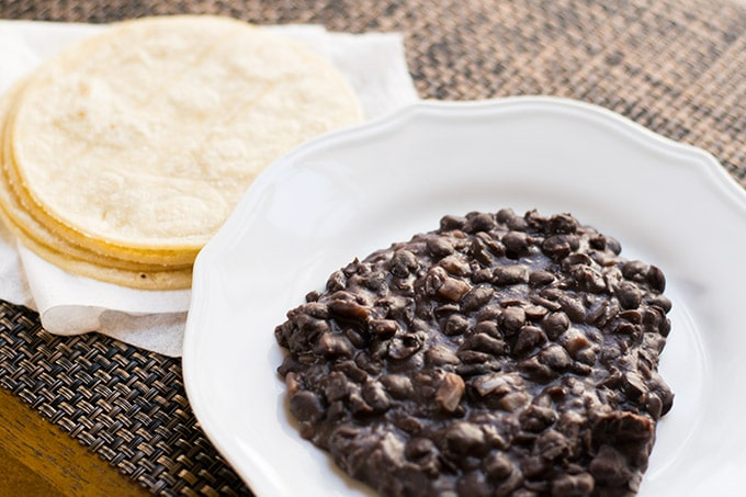 Refried Black Beans Thrift And Spice