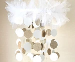 DIY baby mobile chandelier