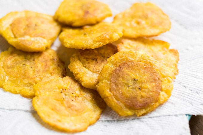 well salted tostones
