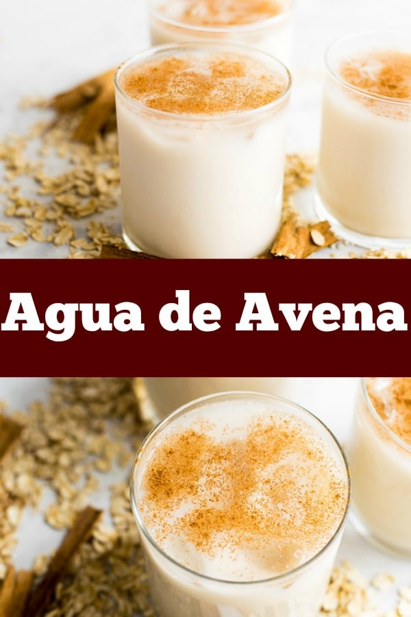 agua de avena is spanish for oatwater. Its healthy and pretty yummy as well. #oats #beverages #drinks