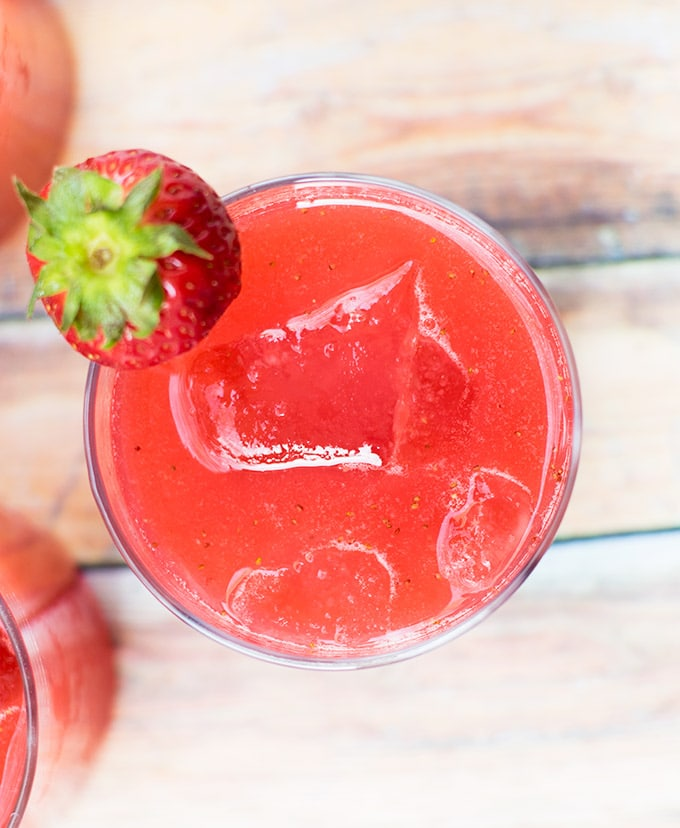 Agua de fresa is a refreshing beverage popular through out Mexico. It is only one of many different types of agua frescas
