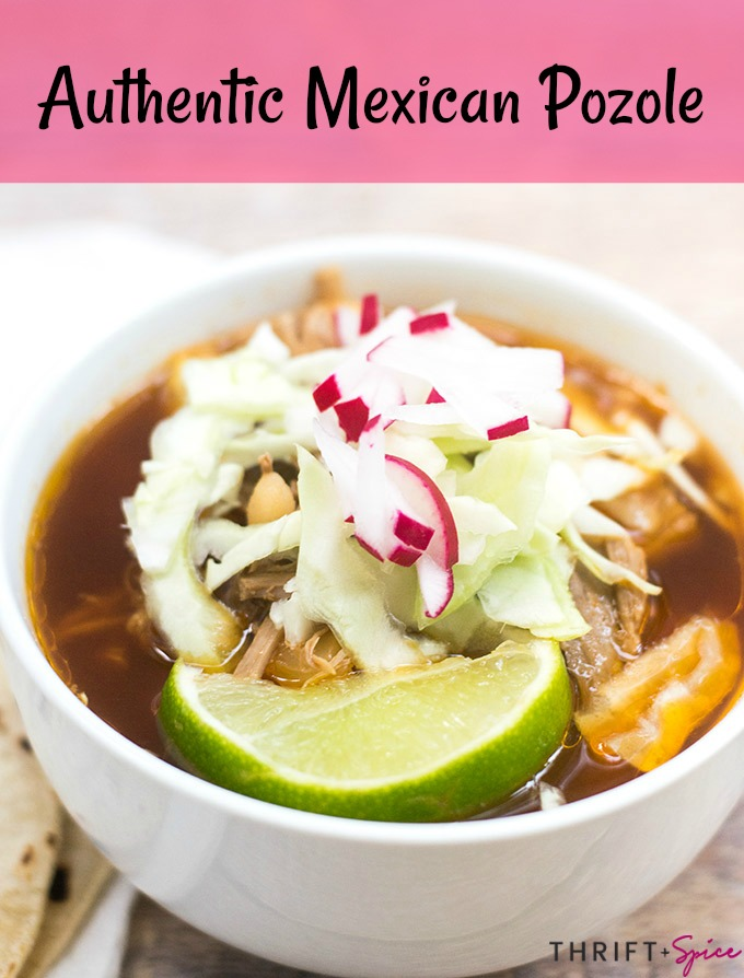 Pozole rojo is delicious during the Fall and Winter months. Try this yummy authentic Mexican pork soup for dinner!