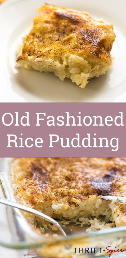 old fashioned rice pudding is a delicious and inexpensive dish you can make for breakfast or dessert!