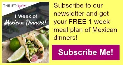 1 week mexican dinners