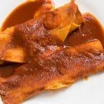 enchiladas with guajillo sauce