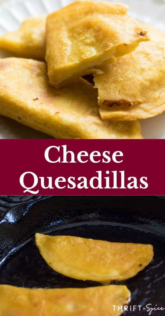 these cheese quesadillas make an excellent mexican snack. #snacks #cheese #mexicanrecipes