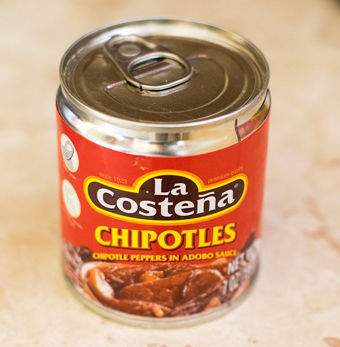 can of chipotle peppers in adobo sauce