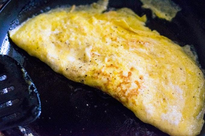 omelet in a skillet