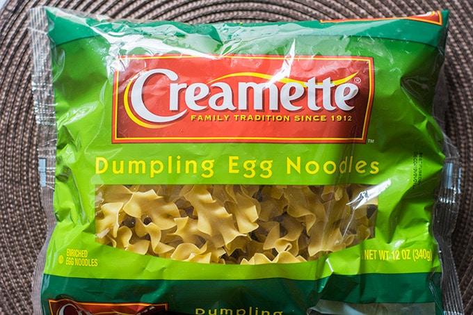 package of egg noodles