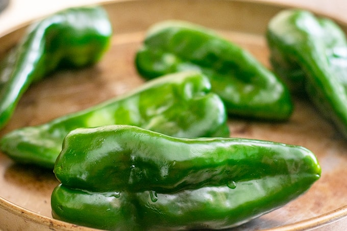 5 poblano peppers