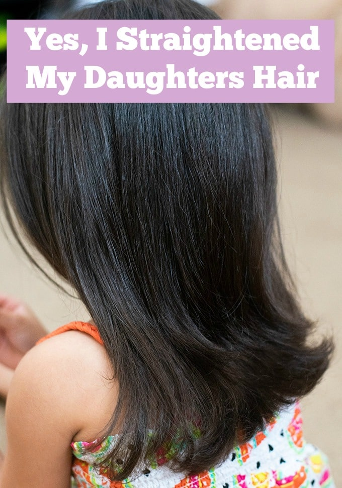 what are your thoughts on straightening a little girls hair? #parenting #momlife