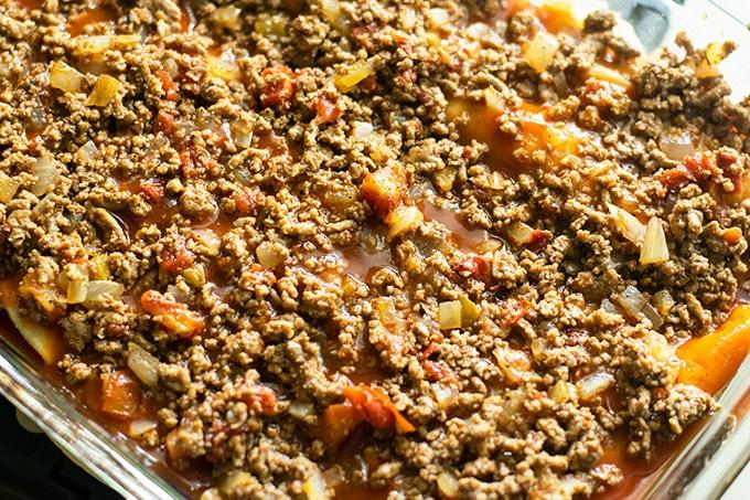 enchilada casserole steps