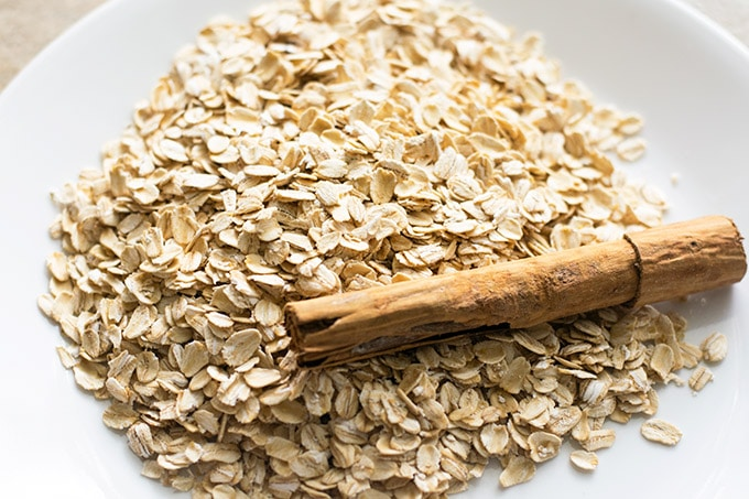 oats and a cinnamon stick