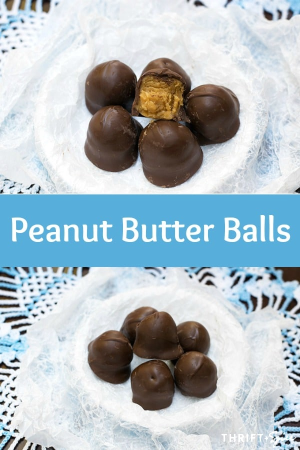 peanut butter balls are everyones favorite holiday candy! #candy #holidayrecipes #chocolate
