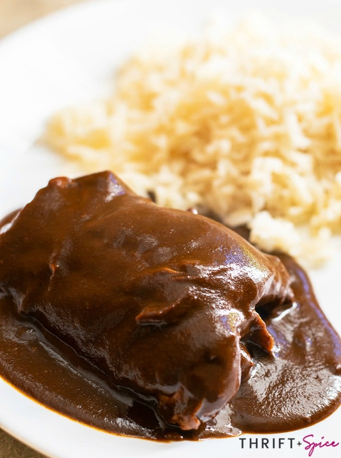 Easy Mole Recipe Thrift And Spice