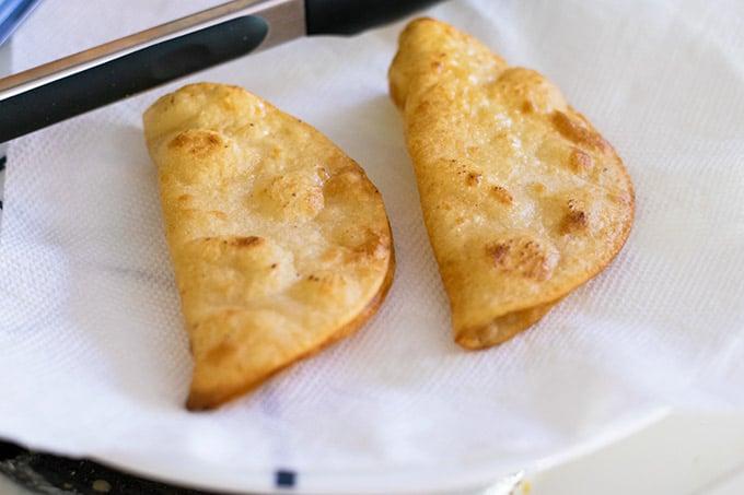 two hard taco shells