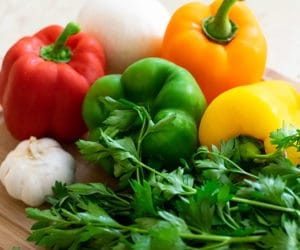 vegetables and herbs for sofrito