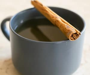 cinnamon tea in a mug