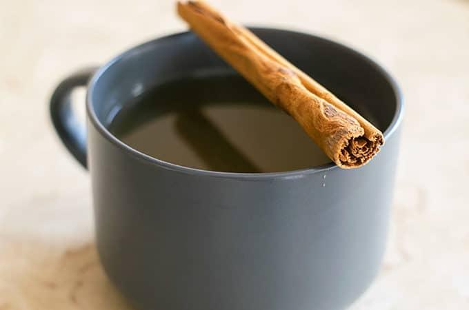 cinnamon tea in a mug