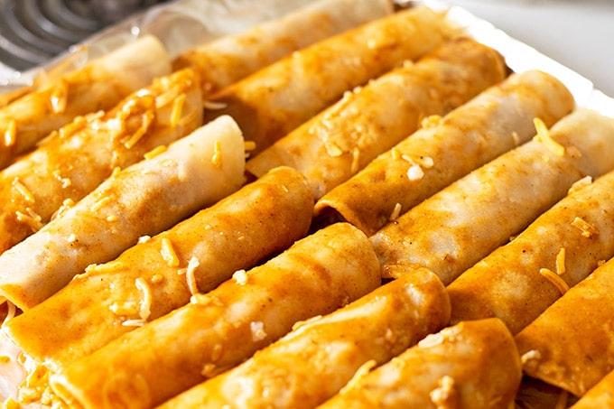 assembled cheese enchiladas