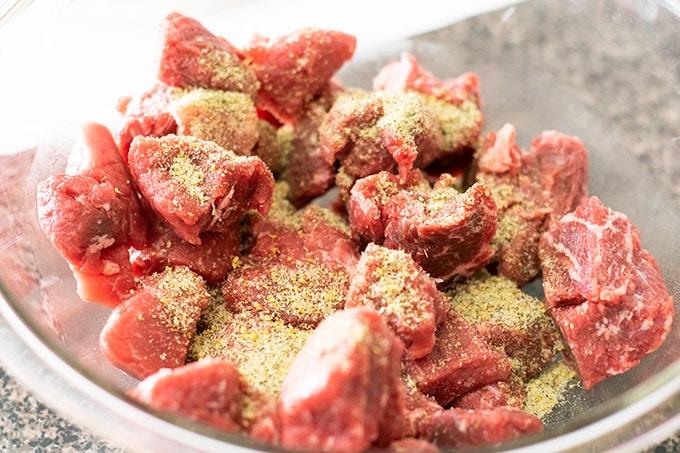 seasoned stew meat