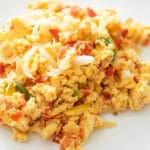 mexican scrambled eggs on a plate