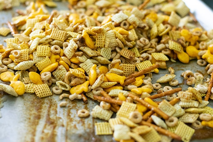 making chex mix