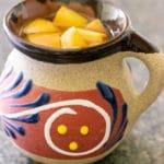 ponche navideño in a mug