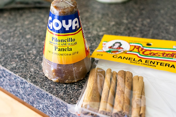 piloncillo and canela