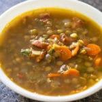 finished lentil soup