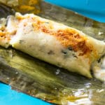 tamal in a banana leaf