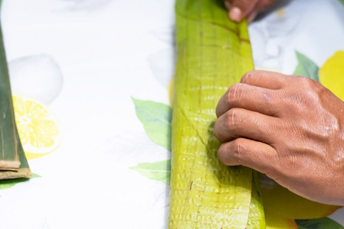 folding tamales