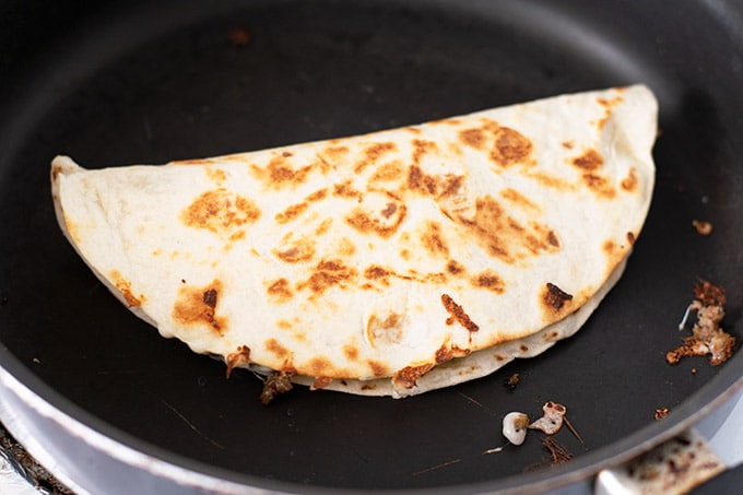 flipped quesadilla