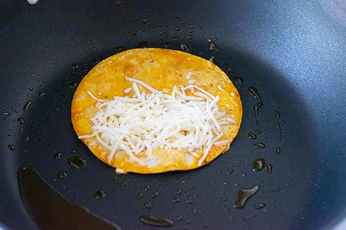 tortilla with cheese