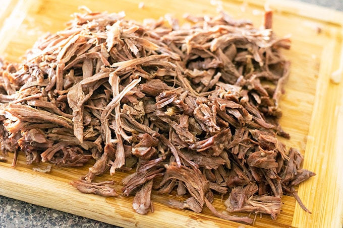 shredded chuck roast for beef birria