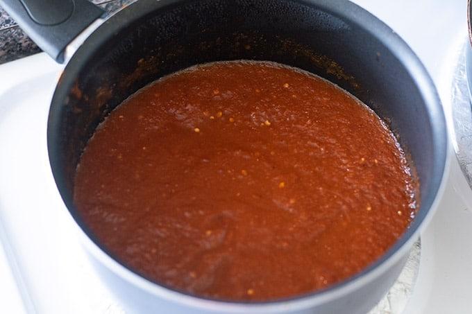 salsa in a pot