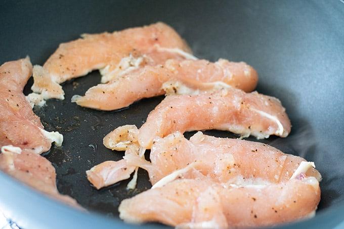 cooking chicken tenderloins in the skillet