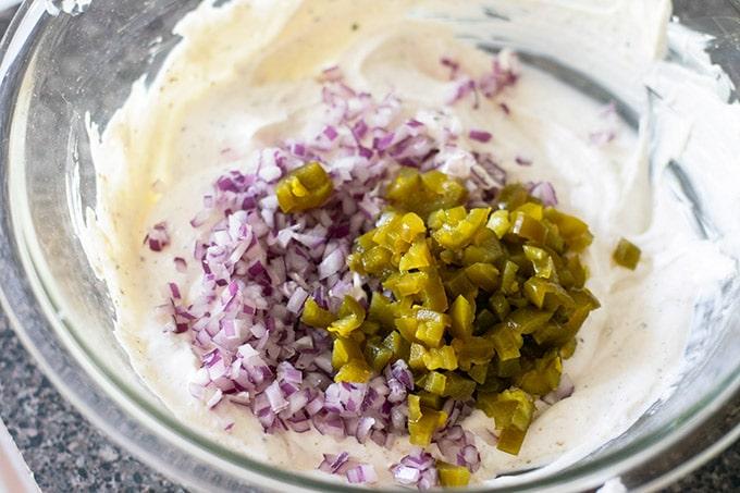 making tuna macaroni salad