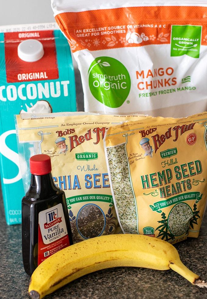 mango coconut smoothie recipe ingredients