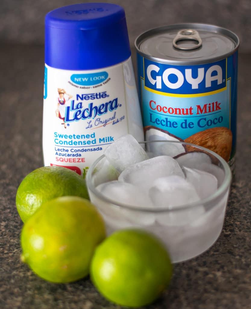 limonada de coco ingredients