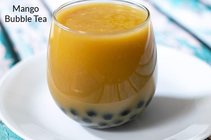 glass of boba tea