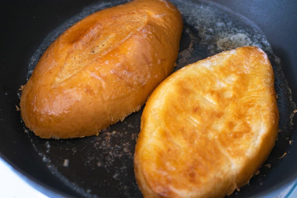 toasting bolillo rolls