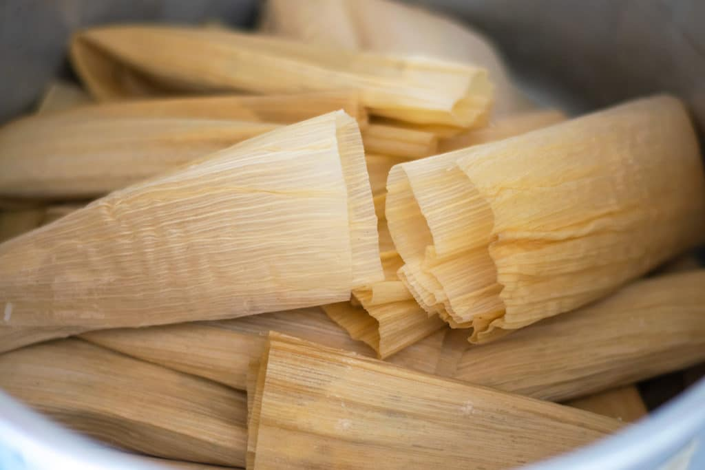 tamales dulces in a pot
